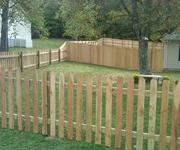 Chain link fence privacy strip managed